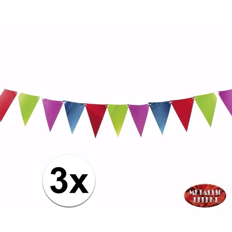 Gekleurde slingers/vlaggetjes 3.6 meter meter