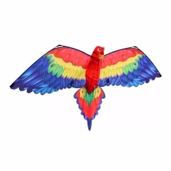 Gekleurde vlieger voor kinderen papegaai