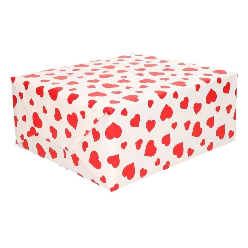 Geschenkpapier liefde met hartjes 70 x 200 cm