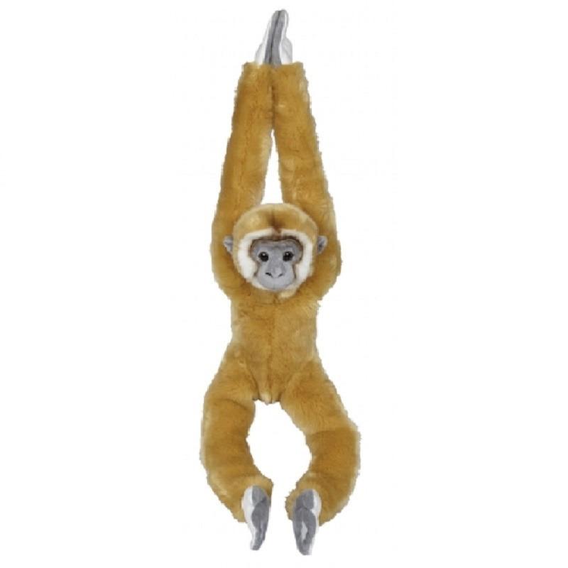 Gibbon speelgoed artikelen aap/apen knuffelbeest lichtbruin 98 cm