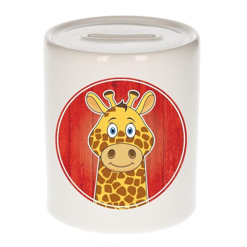 Giraffe kado spaarpot voor kinderen 9 cm