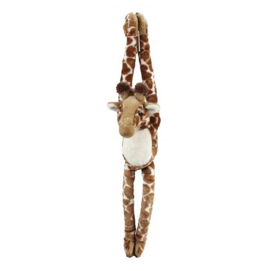 Giraffe speelgoed artikelen giraffe knuffelbeest bruin 74 cm