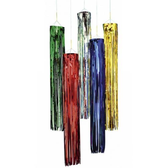 Glitter party decoratie hangers groen 80 cm
