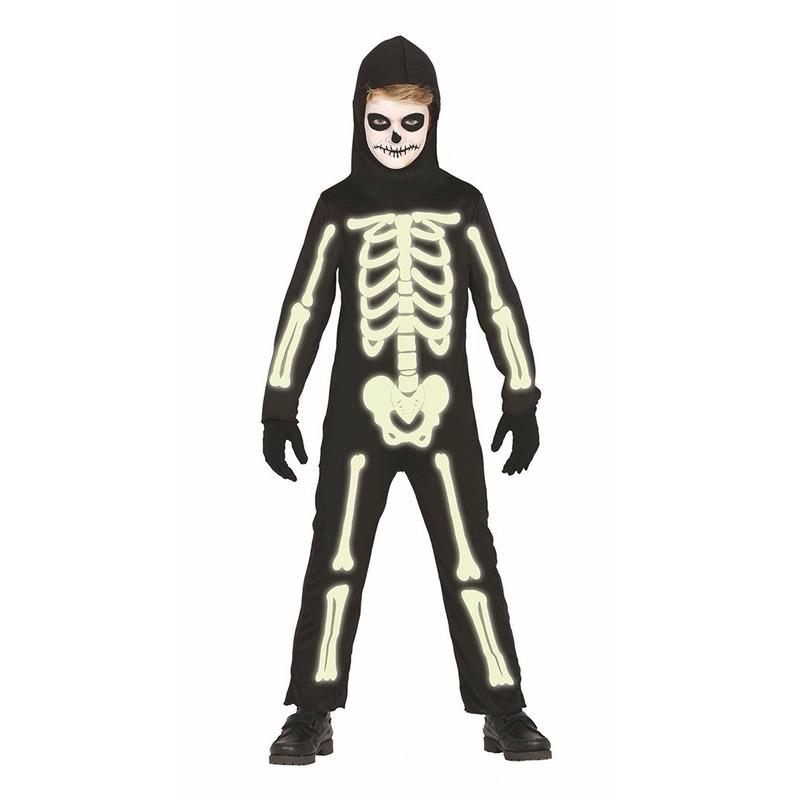 Glow in the dark Halloween skelet pak voor kids