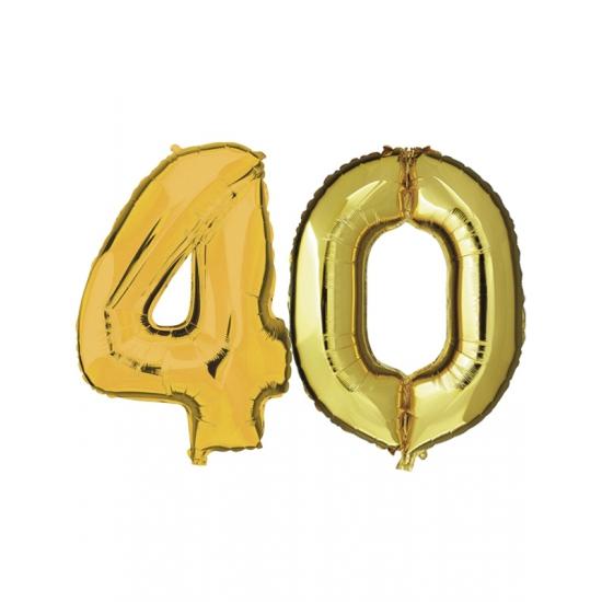 Gouden opblaasbare 40 folie ballonnen