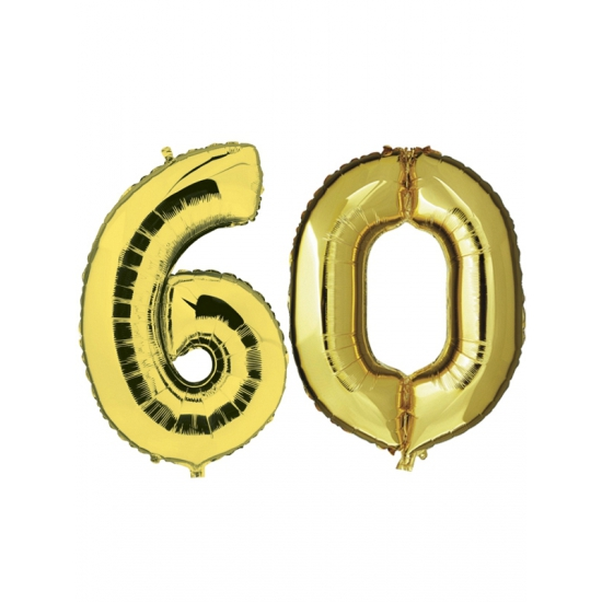 Gouden opblaasbare 60 folie ballonnen