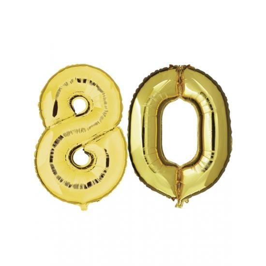 Gouden opblaasbare 80 folie ballonnen