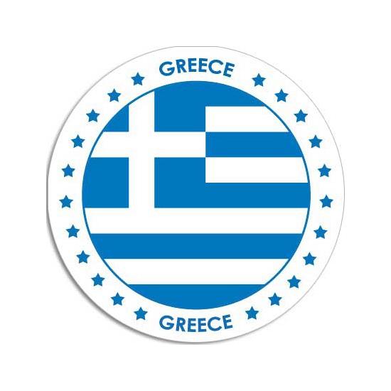 Griekenland sticker rond 14,8 cm landen decoratie