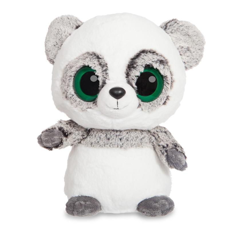 Grijze panda knuffel 20 cm met grote ogen