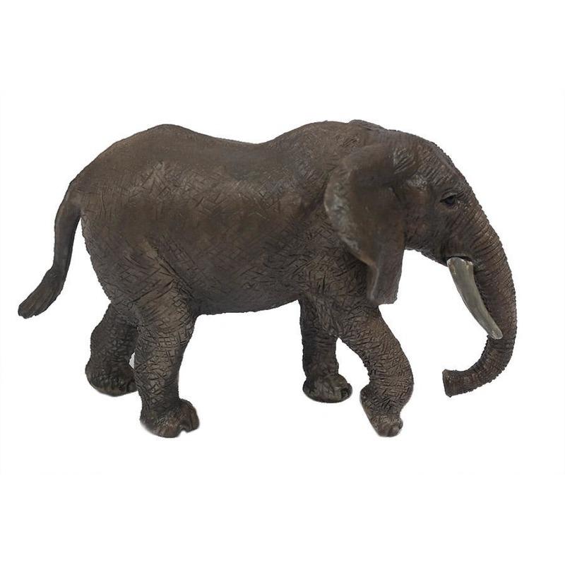 Grijze plastic olifant 15 cm