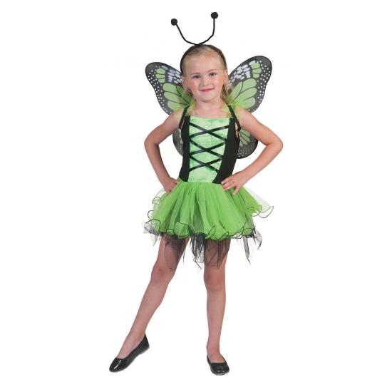 Groen vlinderpakje voor meiden