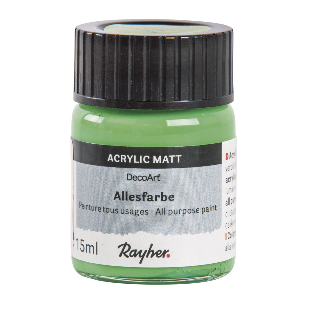 Groene acrylverf/allesverf potje 15 ml hobby/knutselmateriaal