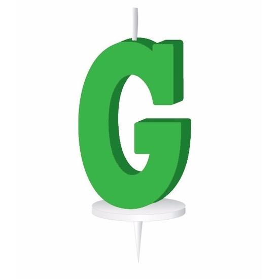 Groene naam kaarsje letter G