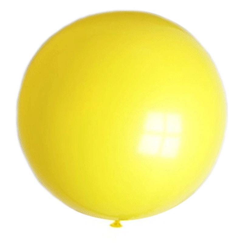 Grote decoratie ballonnen geel 90 cm