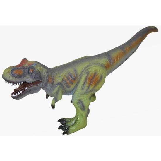 Grote groene plastic T-Rex dinosaurus 63 cm speelgoed
