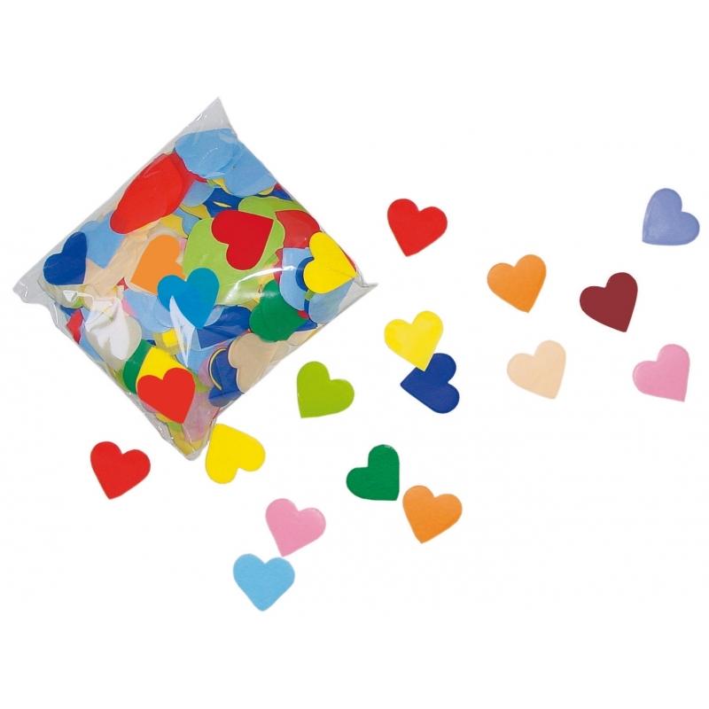 Hartjes confetti brandvertragend