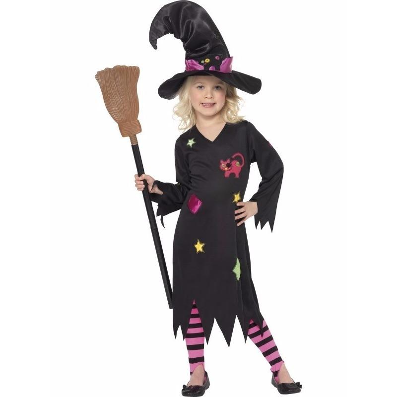 Heksen verkleedjurk Rosy voor meiden