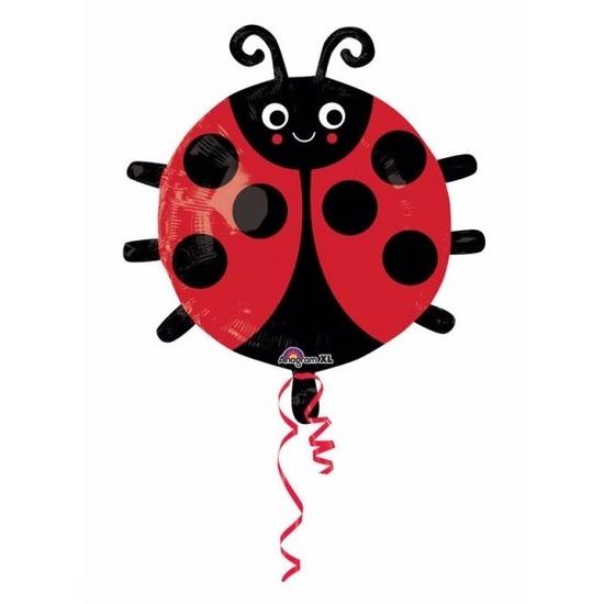 Helium ballon blij lieveheersbeestje 45 cm