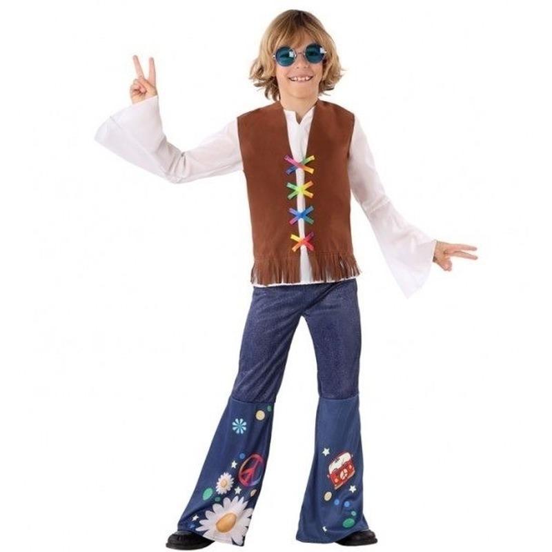 Hippie/Flower Power verkleed kostuum voor jongens