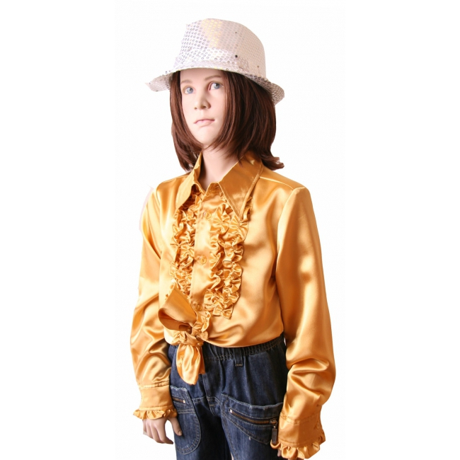 Hippie rouche blouse meisjes goud
