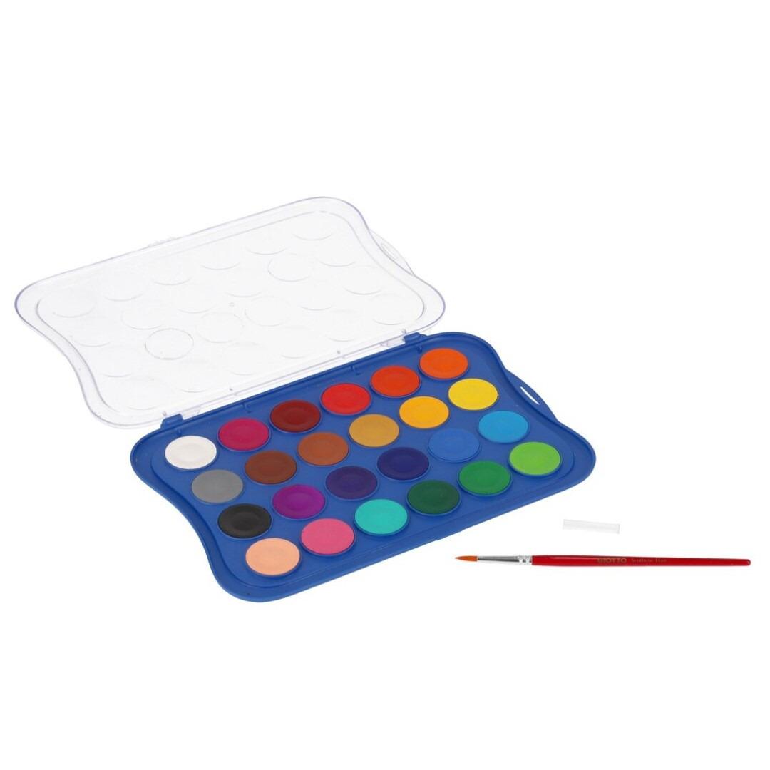 Hobby waterverf/aquarelverf 24 kleuren