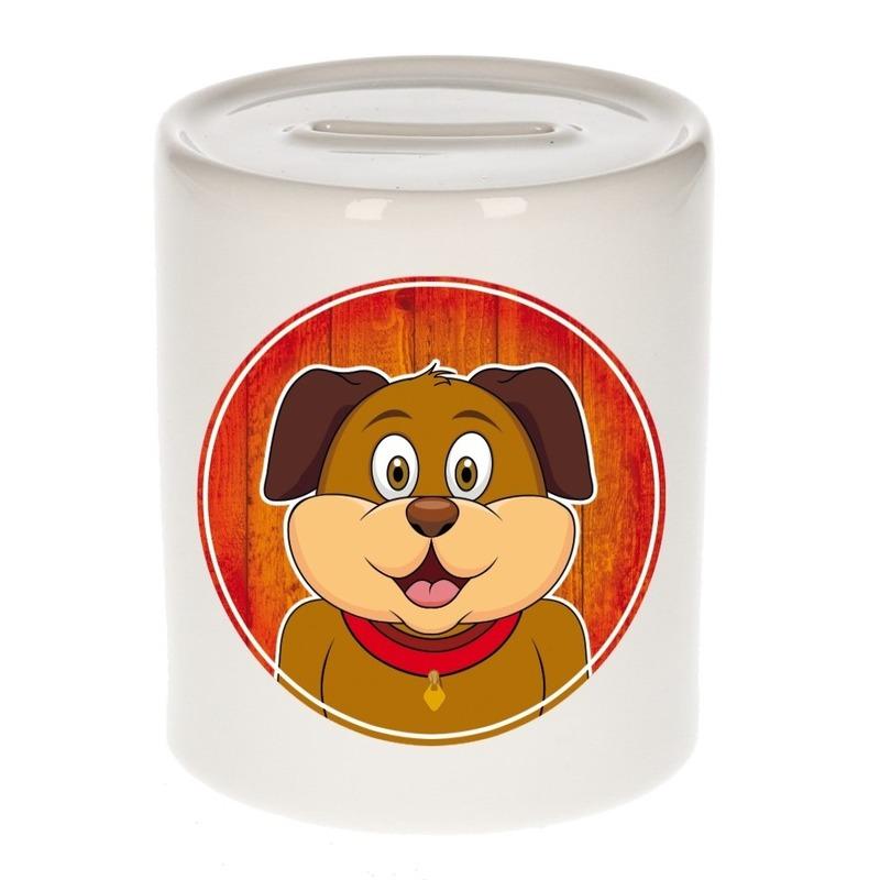Hond kado spaarpot voor kinderen 9 cm