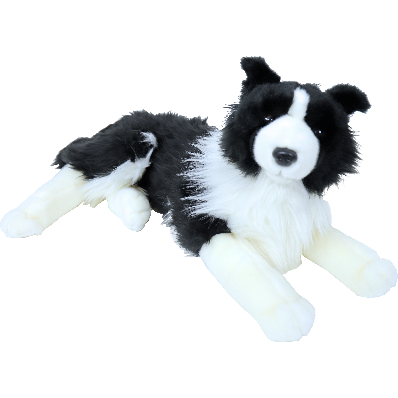 Honden speelgoed artikelen Border Collie knuffelbeest zwart/wit 53 cm