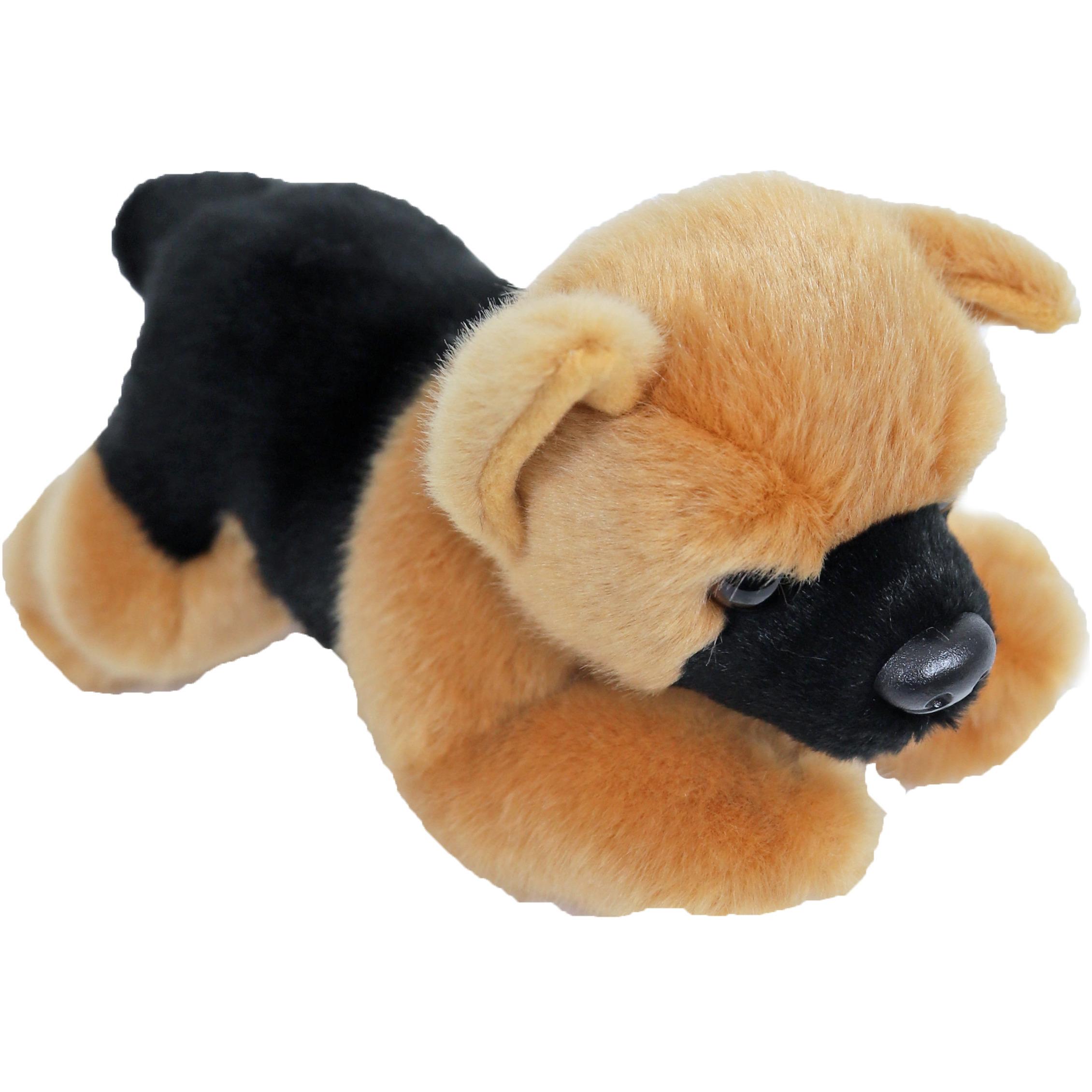 Honden speelgoed artikelen Duitse Herder knuffelbeest bruin/zwart 20 cm