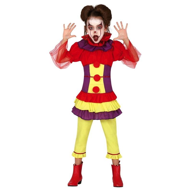 Horror clown Penny verkleed kostuum voor meisjes