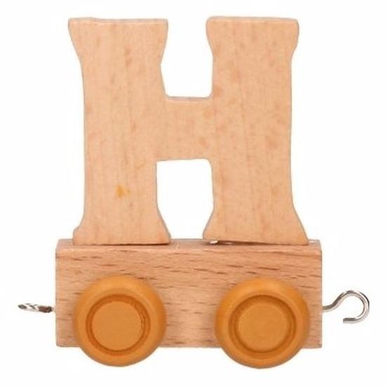 Houten namen treintje H