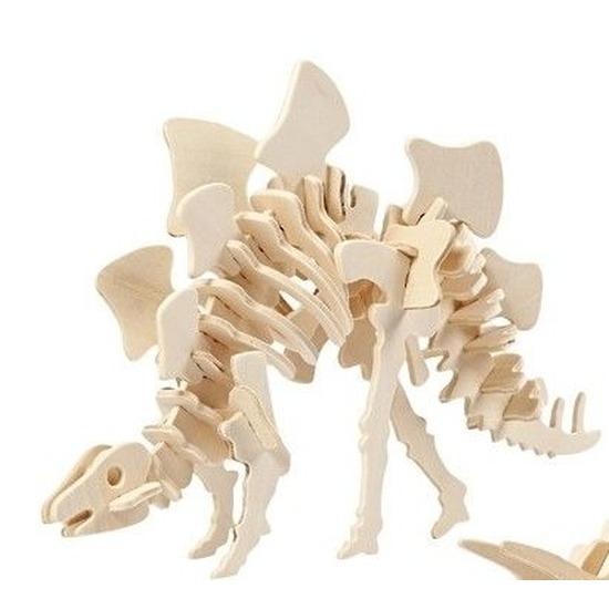 Houten Stegosaurus dinosaurier