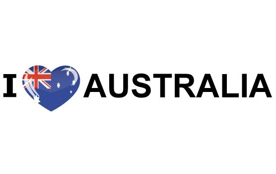 I Love Australia stickers