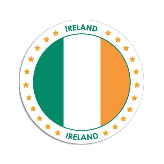 Ierland sticker rond 14,8 cm landen decoratie