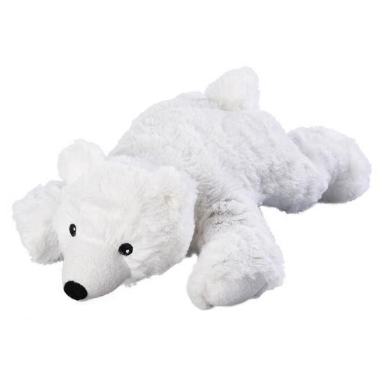 Ijsberen speelgoed artikelen opwarmbare ijsbeer knuffelbeest wit 30 cm