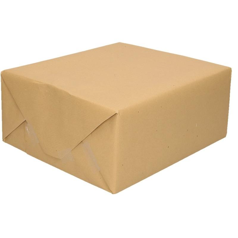 Inpakpapier/cadeaupapier bruin 500 x 70 cm op rol