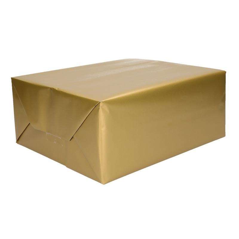 Inpakpapier/cadeaupapier goud 200 x 70 cm op rol