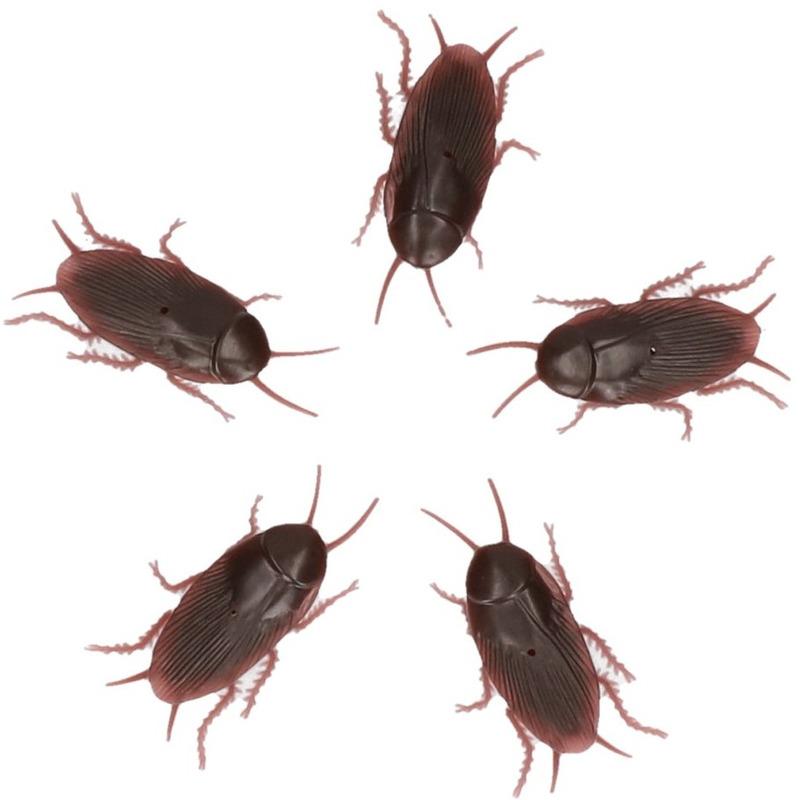 Insecten decoratie Nep kakkerlakken 5 stuks