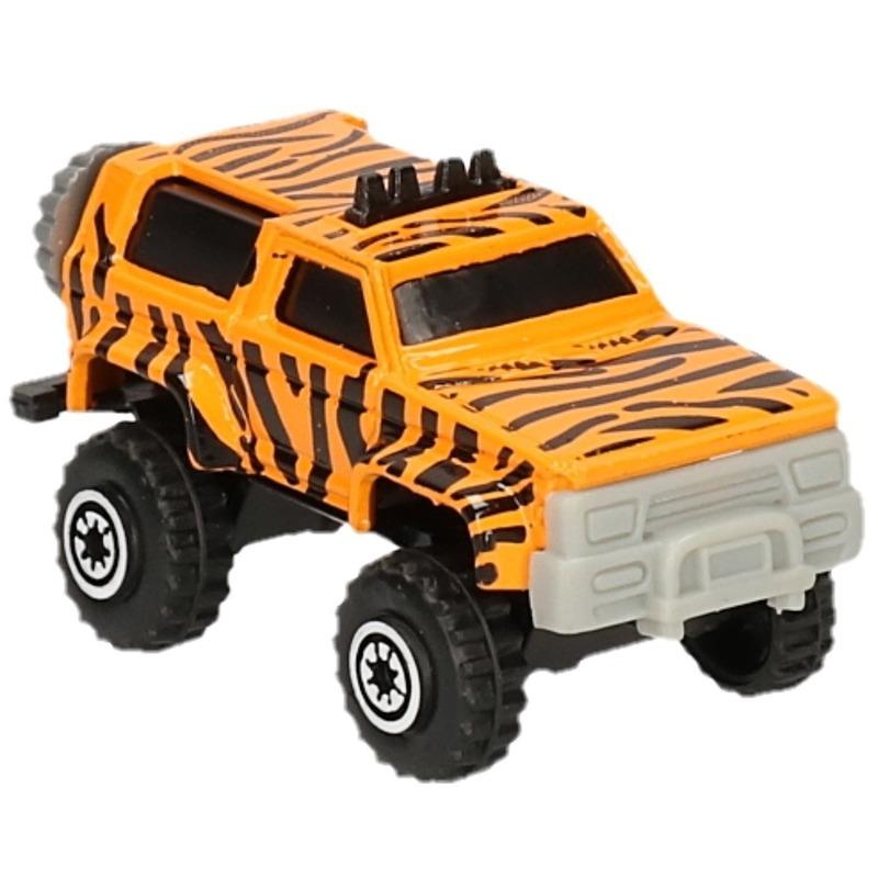 Jeep safari speelgoedauto tijger print 7 cm