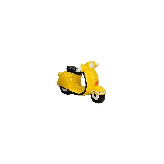 Kado spaarpot scooter20 cm geel