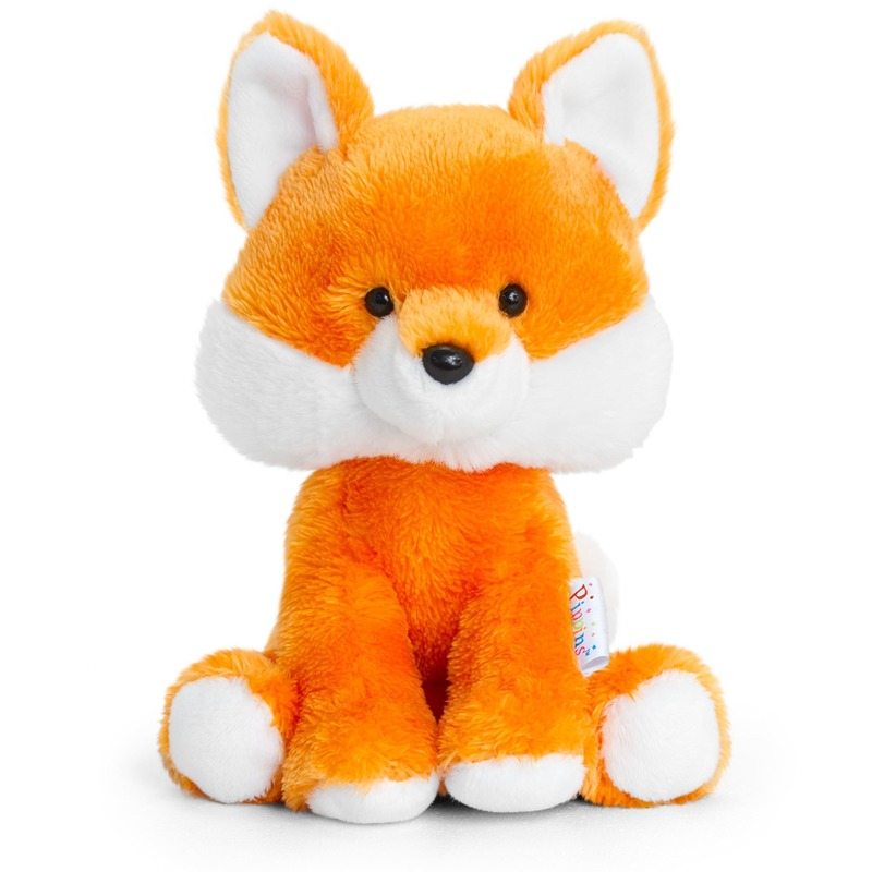 Keel Toys oranje pluche Vos knuffel 14 cm