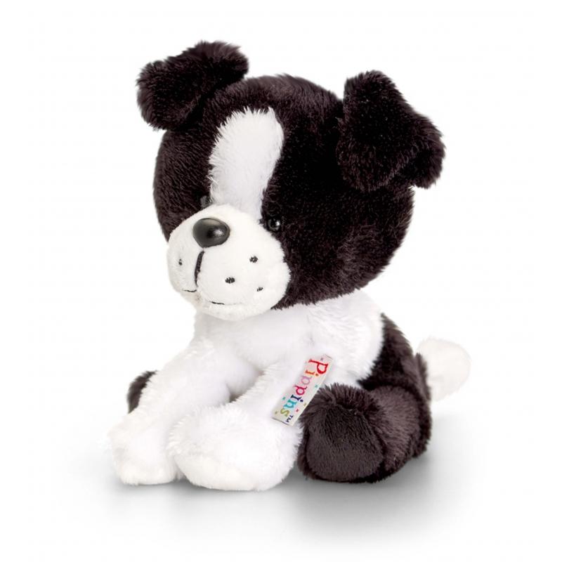 Keel Toys pluche Border Collie hond knuffel 14 cm