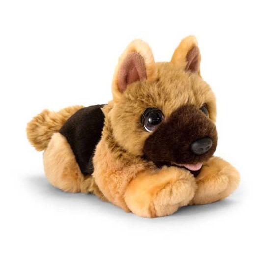 Keel Toys pluche bruine Herdershond honden knuffel 32 cm