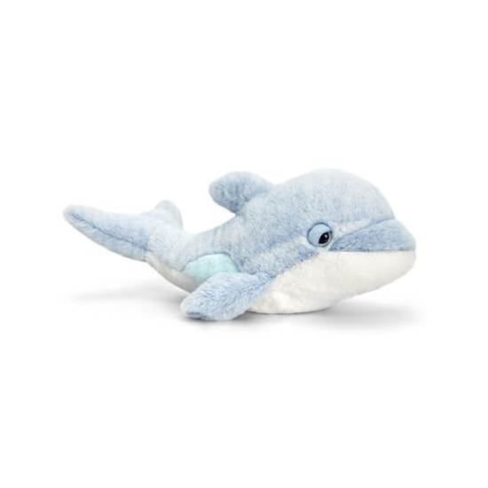 Keel Toys pluche dolfijn knuffel lichtblauw 35 cm