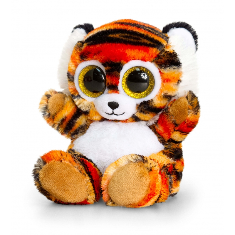 Keel Toys pluche tijger knuffel oranje 15 cm