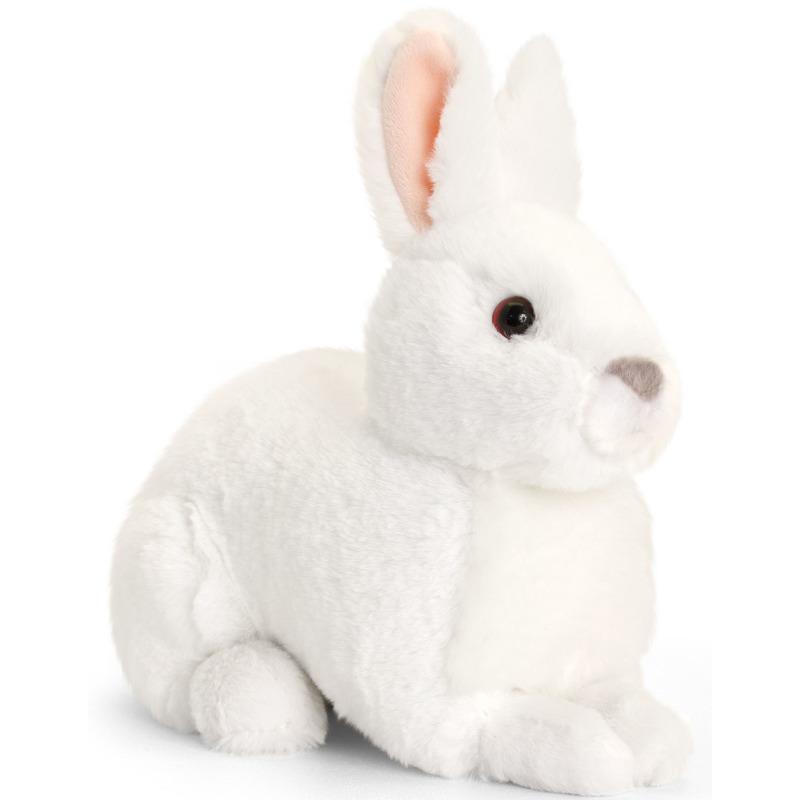 Keel Toys pluche witte konijnen knuffel 20 cm