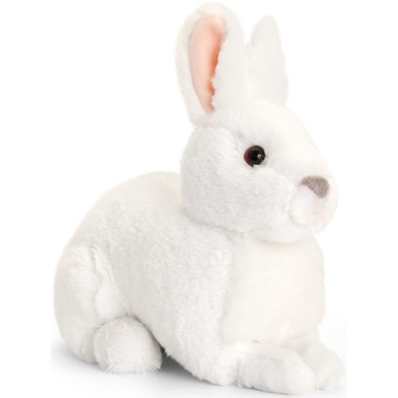 Keel Toys pluche witte konijnen knuffel 25 cm
