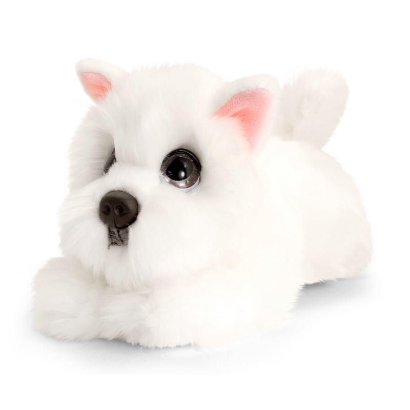 Keel Toys pluche witte Westie honden knuffel 25 cm