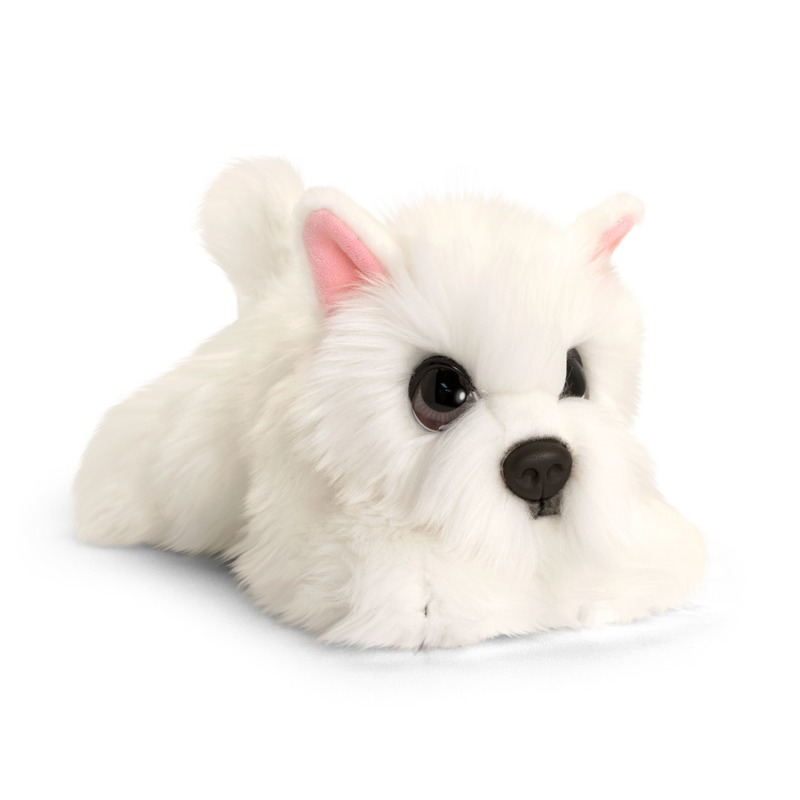 Keel Toys pluche witte Westie honden knuffel 32 cm