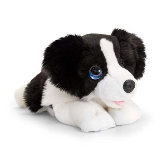 Keel Toys pluche zwart/witte Border collie honden knuffel 32 cm