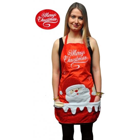 Keuken schort Merry Christmas